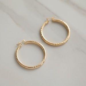 King Hoop Earrings | 18k Gold Filled